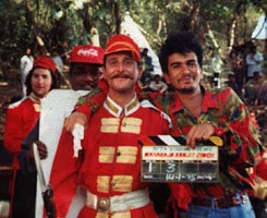 me as Brit solder and clapperboard guy