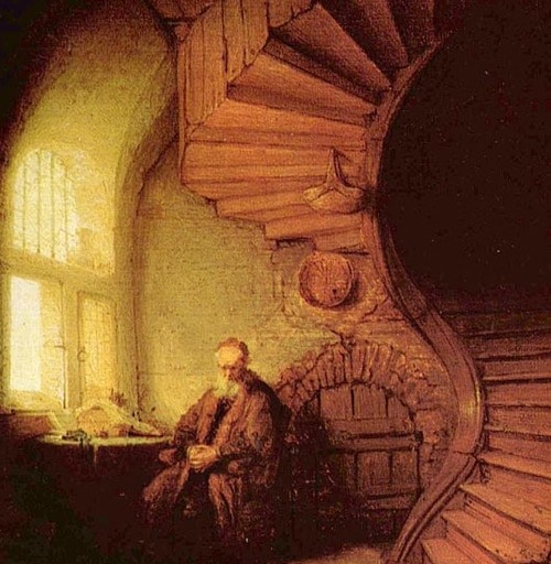 Rembrandt painting of Philosopher in Meditation