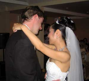 Ian and Manda Lloyd's first dance as newly-weds